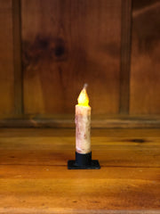 "*Battery-Operated 4"" LED Dipped Taper Candle with Timer"