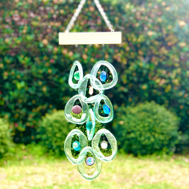 Sea Glass Bottle Benders Wind Chime