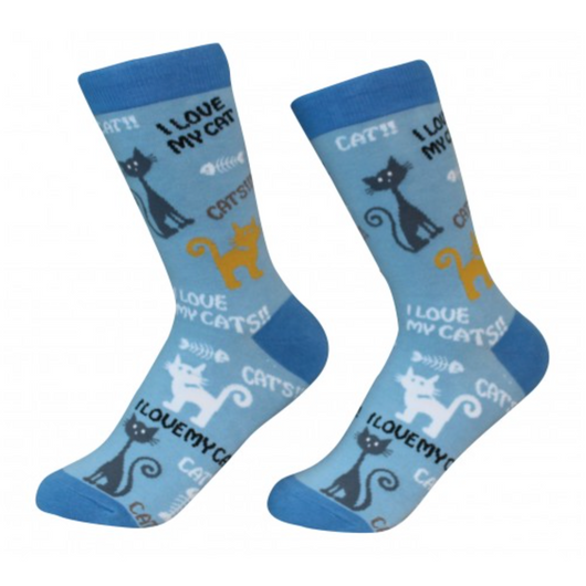 E&S Pets Pet Lover Socks, I Love My Cat