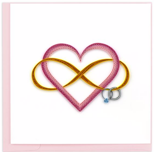 Infinite Love Quilling Card