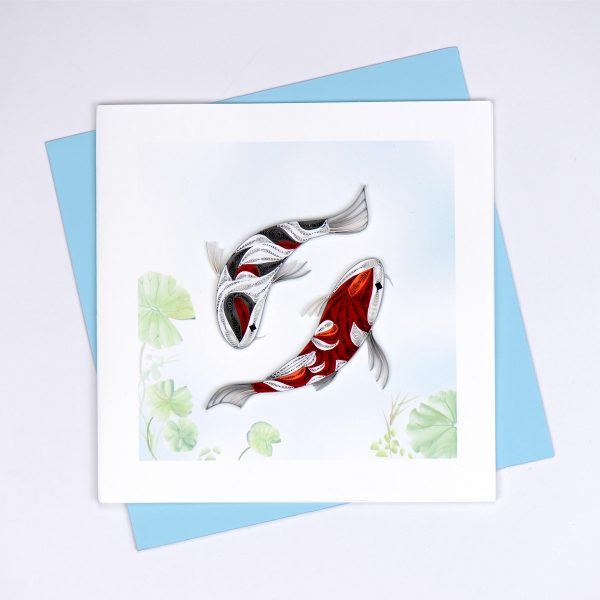 Koi Fish Quilling Card