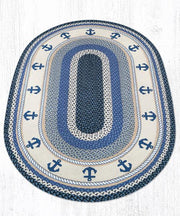 Capitol Earth Rugs Anchor Oval Patch Rug