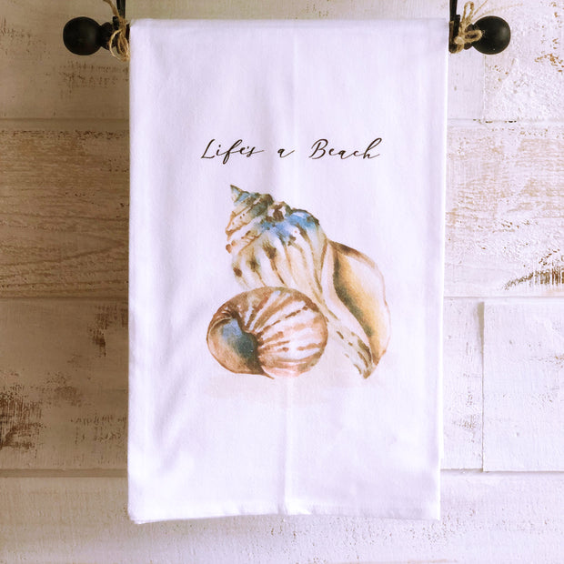 Southern Sisters Life is a Beach Gourmet Flour Sack Tea Towel