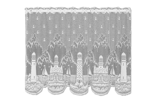 Heritage Lace Tier Curtain - White