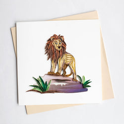 Lion Quilling Card