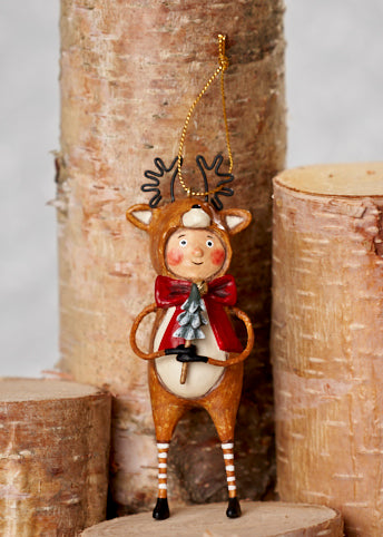 Little Dasher Ornament by Lori Mitchell