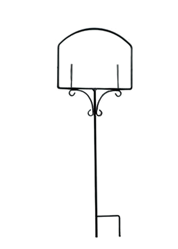 Wrought Iron Garden Sign Stand