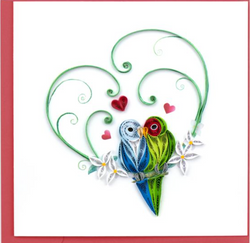 Love Birds Quilling Card