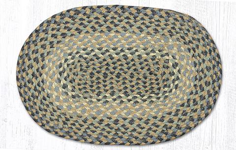 "Capitol Earth Rugs Table Accent/Miniature Swatch, 10"" x 15"" Oval, Color: Blue-Natural"