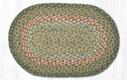 "Capitol Earth Rugs Table Accent/Miniature Swatch, 10"" x 15"" Oval, Color: Green/Burgundy"