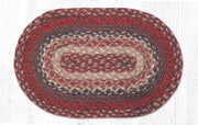 "Capitol Earth Rugs Table Accent/Miniature Swatch, 10"" x 15"" Oval, Color: Burgundy"