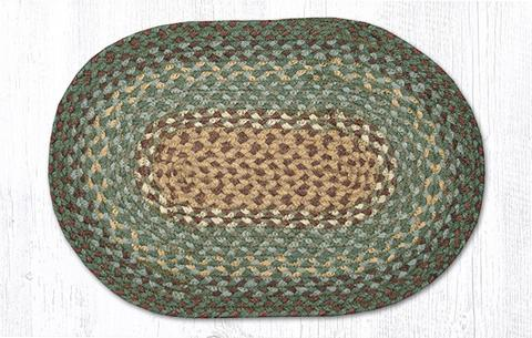 "Capitol Earth Rugs Table Accent/Miniature Swatch, 10"" x 15"" Oval, Color: Dark Green"