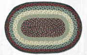 "Capitol Earth Rugs Table Accent/Miniature Swatch, 10"" x 15"" Oval, Color: Blue/Burgundy"