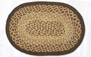"Capitol Earth Rugs Table Accent/Miniature Swatch, 10"" x 15"" Oval, Color: Chocolate/Natural"