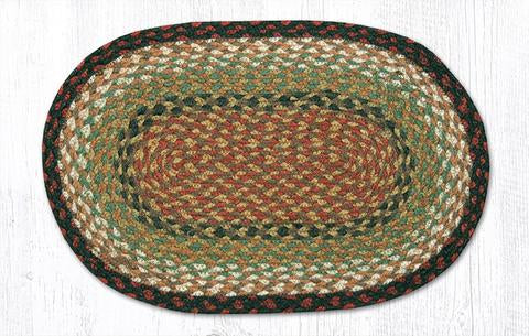 "Capitol Earth Rugs Table Accent/Miniature Swatch, 10"" x 15"" Oval, Color: Burgundy/Mustard"