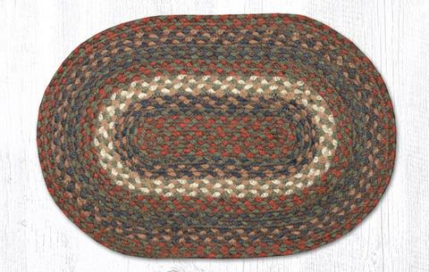 "Capitol Earth Rugs Table Accent/Miniature Swatch, 10"" x 15"" Oval, Color: Burgundy/Grey"