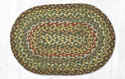 "Capitol Earth Rugs Table Accent/Miniature Swatch, 10"" x 15"" Oval, Color: Fir/Ivory"