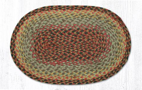 "Capitol Earth Rugs Table Accent/Miniature Swatch, 10"" x 15"" Oval, Color: Burgundy/Black/Sage"