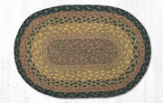 "Capitol Earth Rugs Table Accent/Miniature Swatch, 10"" x 15"" Oval, Color: Brown/Black/Charcoal"