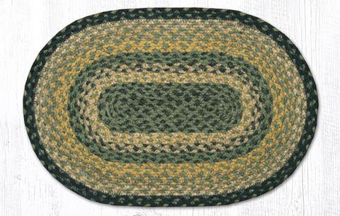 "Capitol Earth Rugs Table Accent/Miniature Swatch, 10"" x 15"" Oval, Color: Black/Mustard/Cream"