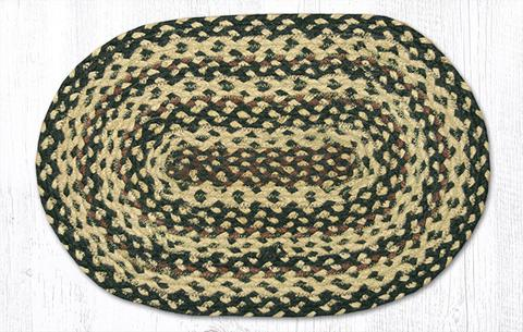 "Capitol Earth Rugs Table Accent/Miniature Swatch, 10"" x 15"" Oval, Color: Ebony/Ivory/Chocolate"