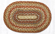 "Capitol Earth Rugs Table Accent/Miniature Swatch, 10"" x 15"" Oval, Color: Honey/Vanilla/Ginger"