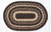 "Capitol Earth Rugs Table Accent/Miniature Swatch, 10"" x 15"" Oval, Color: Mocha/Frappuccino"
