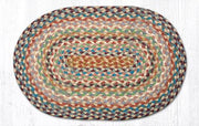 "Capitol Earth Rugs Table Accent/Miniature Swatch, 10"" x 15"" Oval, Color: Multi 1"
