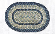 "Capitol Earth Rugs Table Accent/Miniature Swatch, 10"" x 15"" Oval, Color: Breezy Blue/Taupe/Ivory"