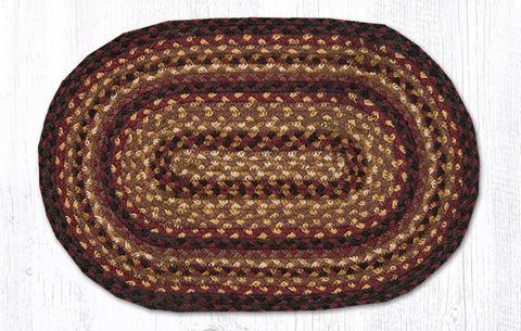 "Capitol Earth Rugs Table Accent/Miniature Swatch, 10"" x 15"" Oval, Color: Black Cherry/Chocolate/Cream"