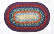 "Capitol Earth Rugs Table Accent/Miniature Swatch, 10"" x 15"" Oval, Color: Rainbow 1"