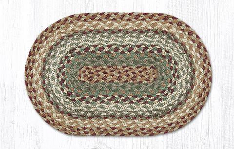"Capitol Earth Rugs Table Accent/Miniature Swatch, 10"" x 15"" Oval, Color: Buttermilk/Cranberry"