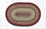 "Capitol Earth Rugs Table Accent/Miniature Swatch, 10"" x 15"" Oval, Color: Thistle Green/Country Red"