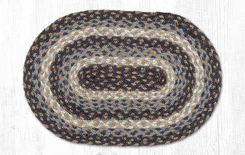 "Capitol Earth Rugs Table Accent/Miniature Swatch, 10"" x 15"" Oval, Color: Blue"