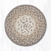 "Braided Jute Trivets/Miniature Swatches, 10"" Round, Natural"
