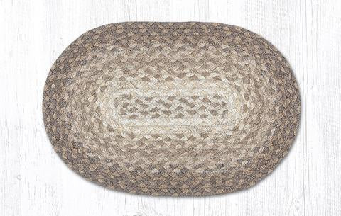 "Capitol Earth Rugs Table Accent/Miniature Swatch, 10"" x 15"" Oval, Color: Natural"