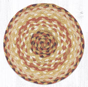 "Braided Jute Trivets/Miniature Swatches, 10"" Round, Terracotta Crock"