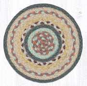 "Braided Jute Trivets/Miniature Swatches, 10"" Round, Classic Stucco"