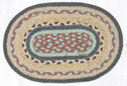 "Capitol Earth Rugs Table Accent/Miniature Swatch, 10"" x 15"" Oval, Classic Stucco"