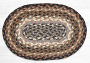 "Capitol Earth Rugs Table Accent/Miniature Swatch, 10"" x 15"" Oval, Color: Black/Tan/Terracotta"