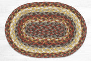 "Capitol Earth Rugs Table Accent/Miniature Swatch, 10"" x 15"" Oval, Color: Taupe/Goldenrod/Terracotta"