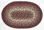 "Capitol Earth Rugs Table Accent/Miniature Swatch, 10"" x 15"" Oval, Color: Taupe/Rose/Burgundy"