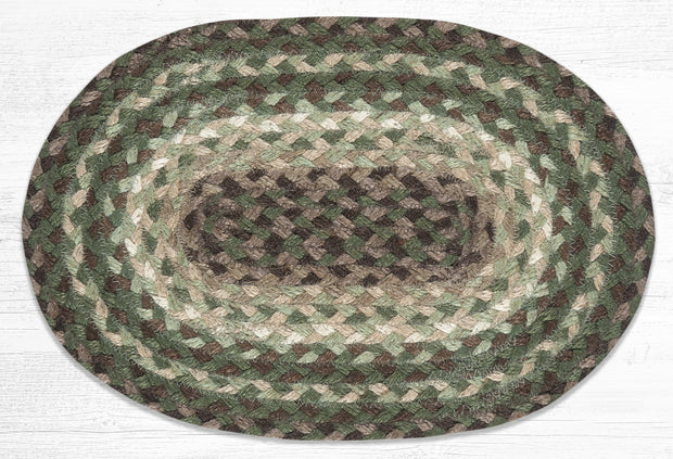 "Capitol Earth Rugs Table Accent/Miniature Swatch, 10"" x 15"" Oval, Color: Taupe/Dark Brown/Cactus"