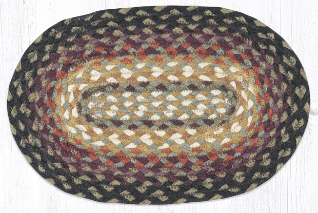 "Capitol Earth Rugs Table Accent/Miniature Swatch, 10"" x 15"" Oval, Color: Bear Vineyard"