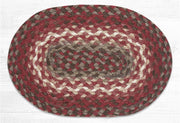 "Capitol Earth Rugs Table Accent/Miniature Swatch, 10"" x 15"" Oval, Color: Taupe/Chestnut/Chili Pepper"