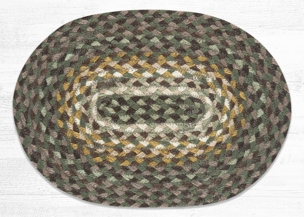 "Capitol Earth Rugs Table Accent/Miniature Swatch, 10"" x 15"" Oval, Color: Chestnut/Goldenrod/Cactus"
