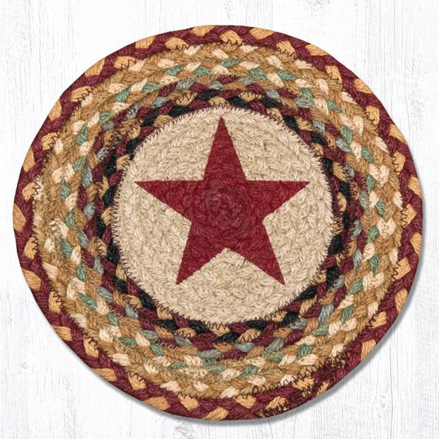 Stars Collection, Printed Jute Trivets/Miniature Swatches - CLICK FOR MORE DESIGNS & SIZES