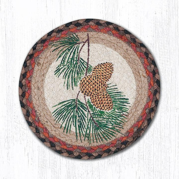 Fall Seasonal Collection, Printed Jute Trivets/Miniature Swatches - MORE DESIGNS & SIZES
