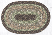 "Capitol Earth Rugs Craft Spun Jute Table Accents/Miniature Swatches, 10"" x 15"" Oval, Moss Bark"