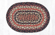 "Capitol Earth RugJute Braided Table Accent/Miniature Swatches, 7.5"" x 11"" Oval, Terracotta"